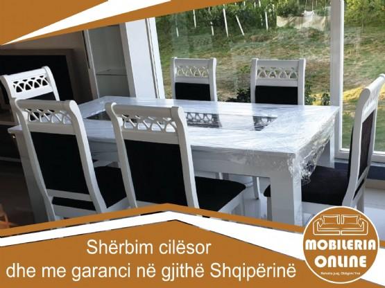 Komplet Tavoline Me Karrige / Tavoline Me Karrige / Tavolina Ngrenie Me Karrige / Tavolina Ngrenie Moderne Nga Tapiceri Niku