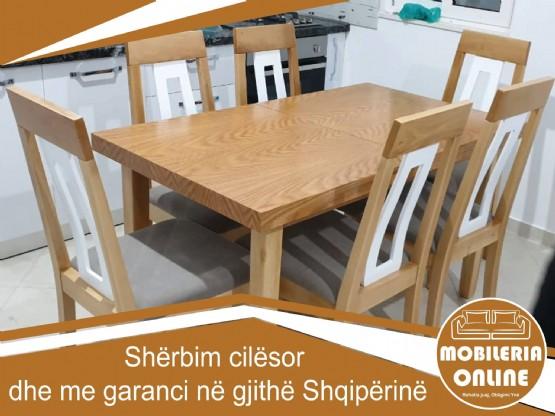 tavoline me 6 karrige / tavoline ngrenie me 6 karrige / Tavoline Per 6 Persona / tavolina ngrenie me karrige